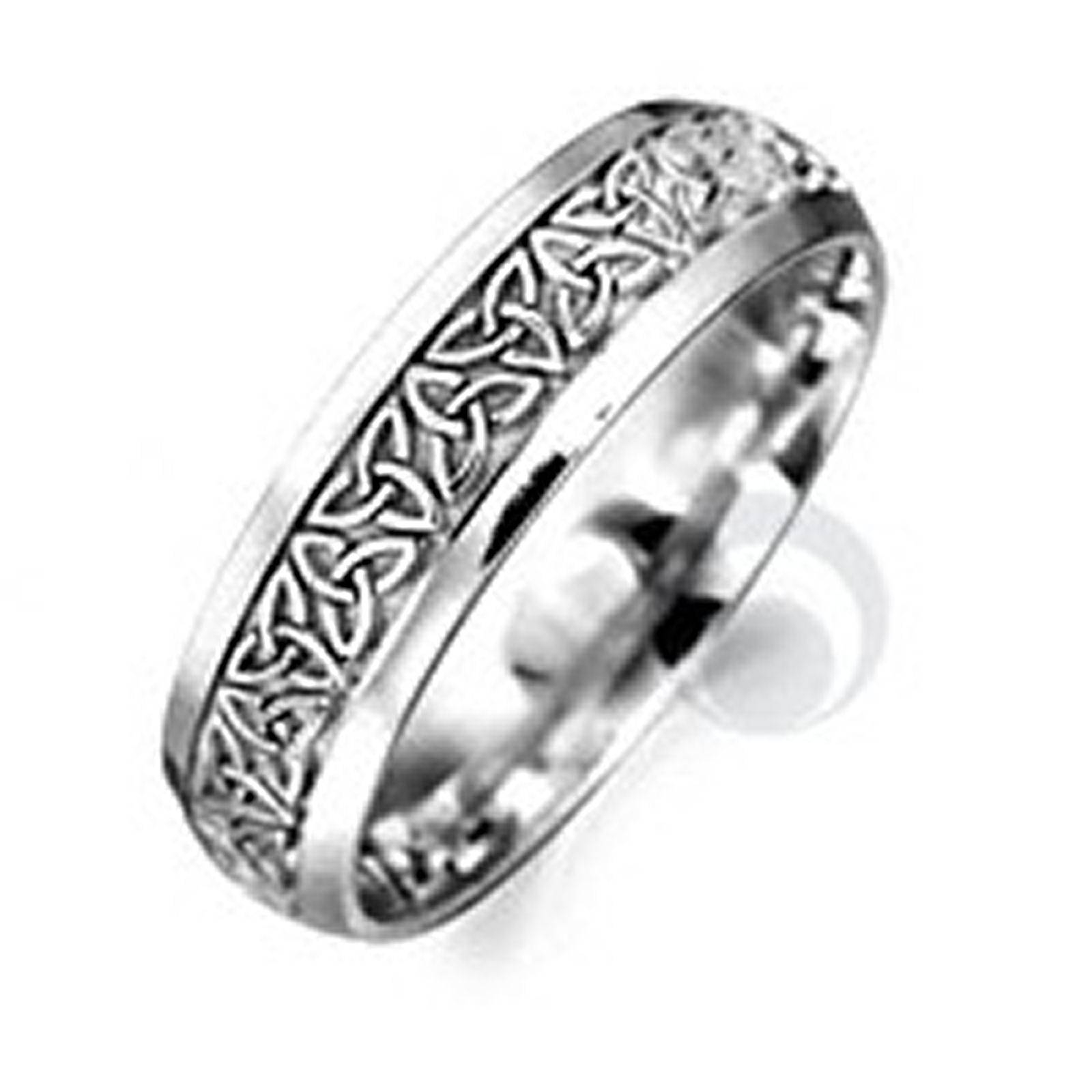 Celtic Patterned Platinum Wedding Ring Wedding Dress From The Within Most Recently Released Platnium Wedding Bands (View 7 of 15)