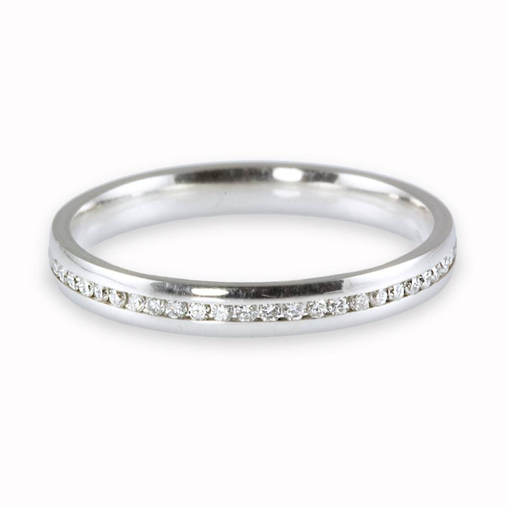 Featured Photo of Platinum Channel Set Wedding Band