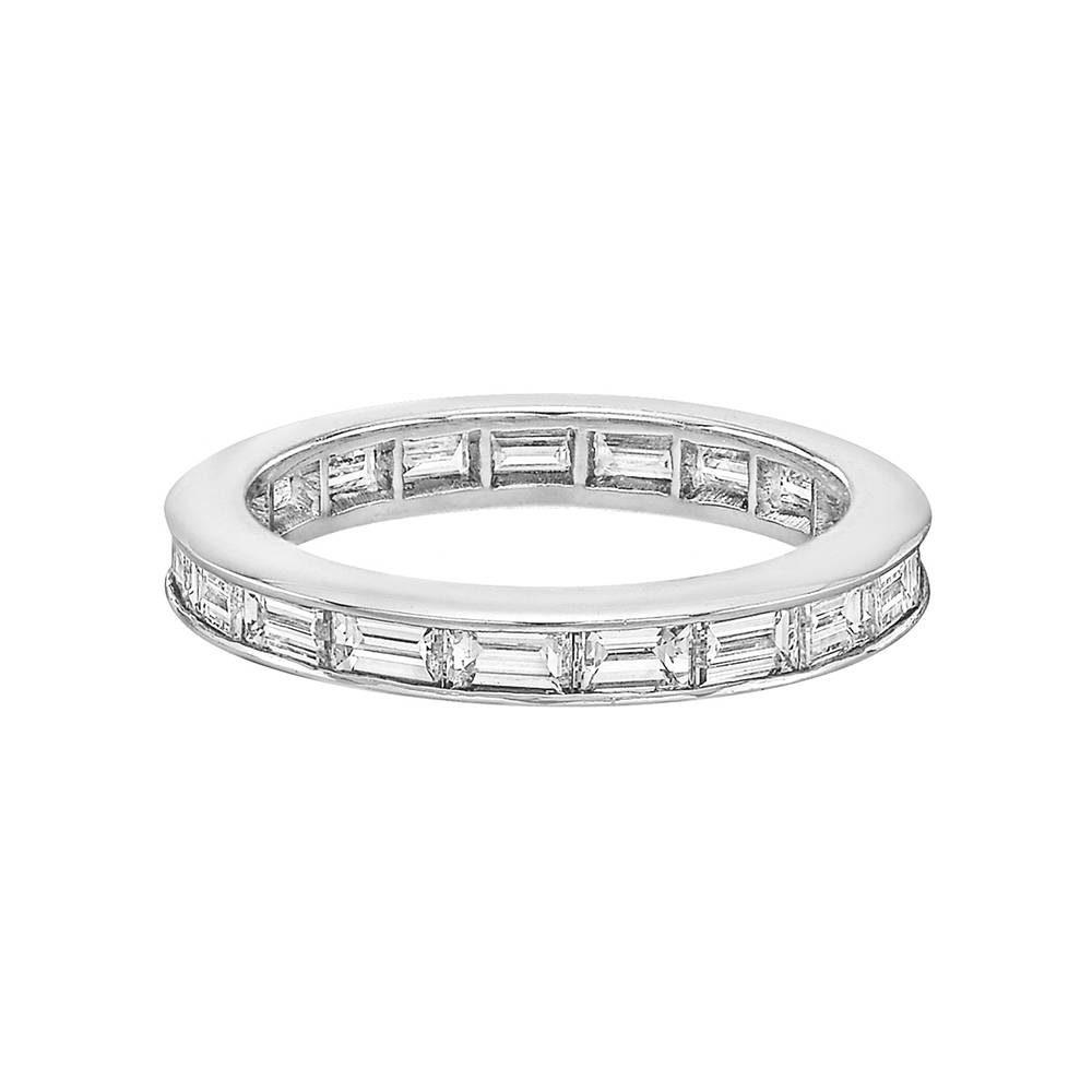 Channel Set Baguette Cut Diamond Eternity Band ( (View 3 of 15)