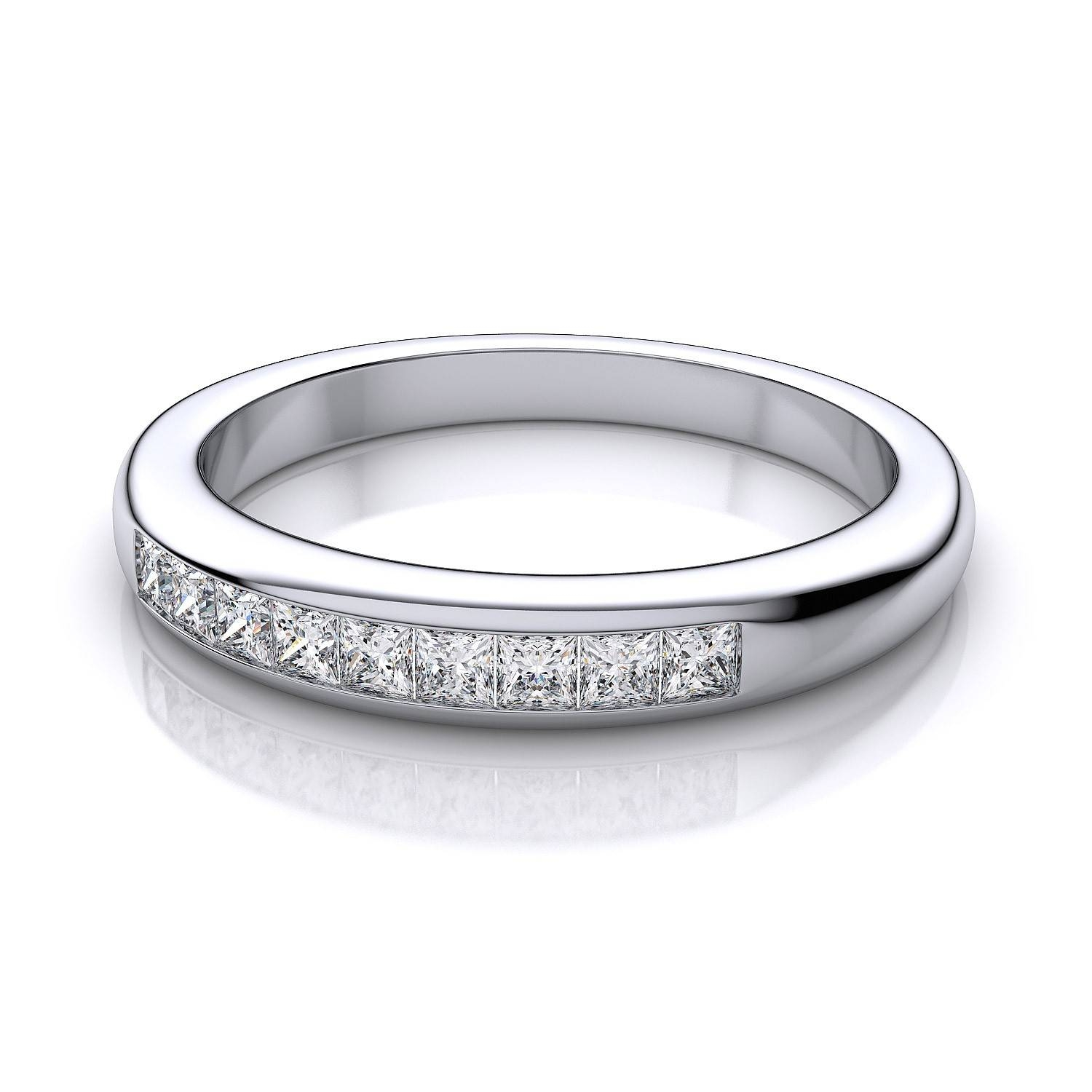 Channel Set Diamond Wedding Band In Platinum Si H I Inside Newest Platinum Channel Set Wedding Band (Gallery 7 of 15)