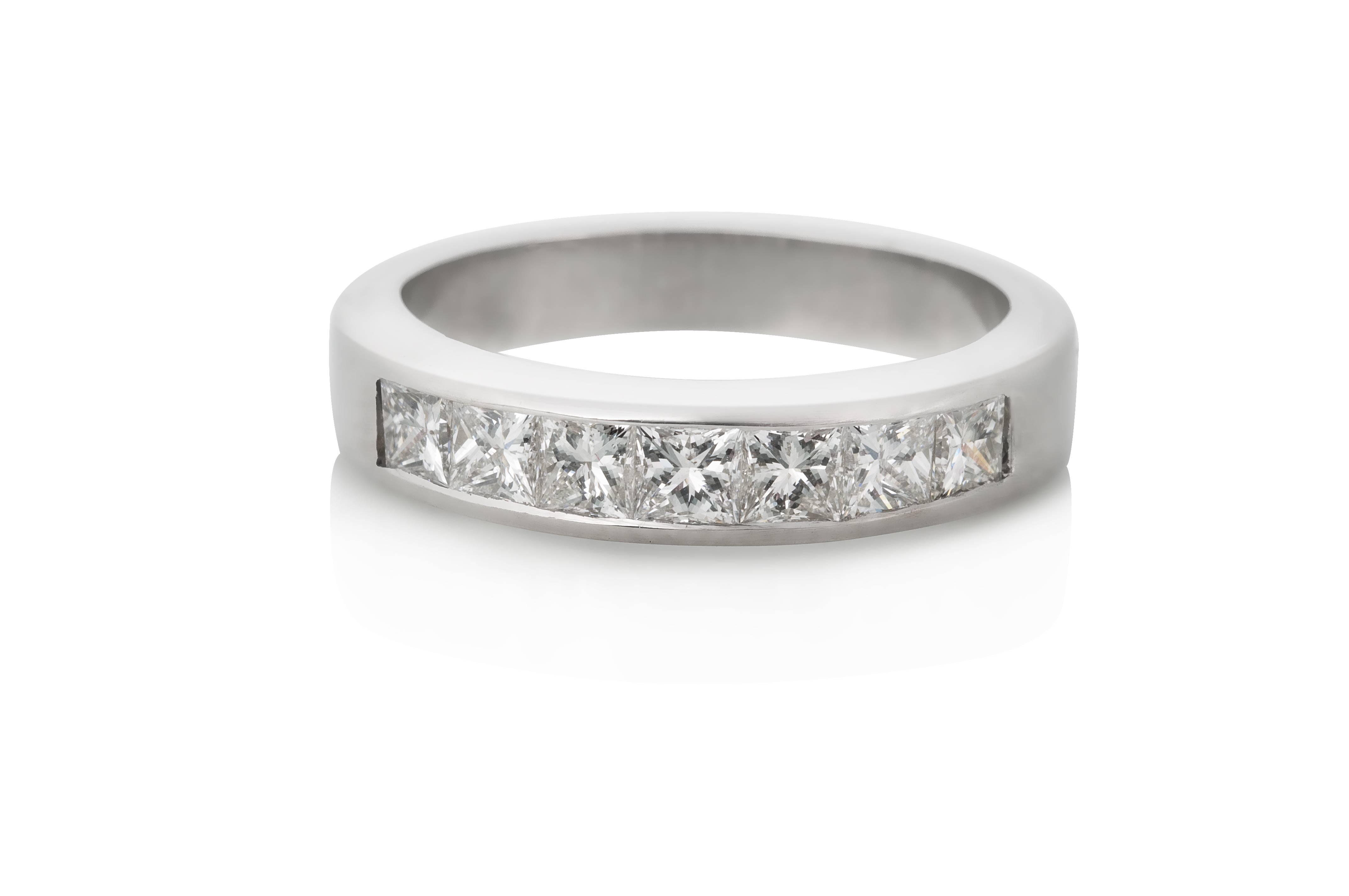 Channel Set Diamond Wedding Bandkeezing Kreations Boston In 2017 Platinum Channel Set Wedding Band (Gallery 9 of 15)