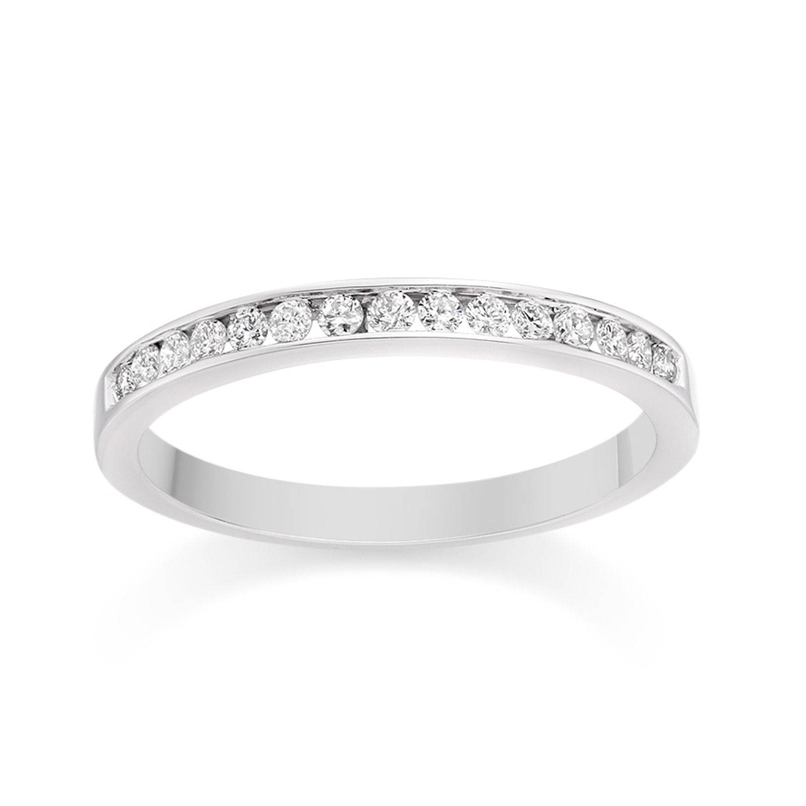 Channel Set Diamond Wedding Ring In Platinum Wedding Dress From Regarding Current Pave Set Diamond Wedding Bands (View 5 of 15)