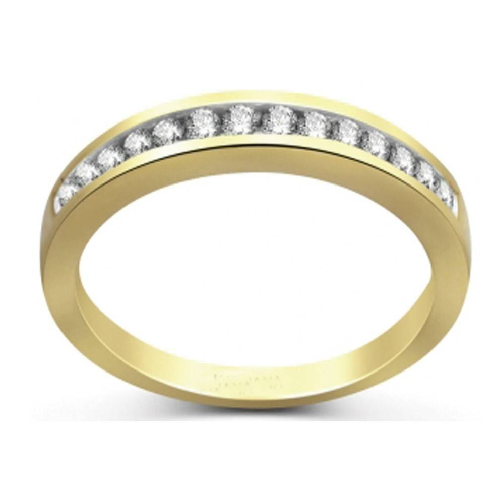 Channel Set Round Diamond Wedding Band In Yellow Gold – Jeenjewels With Current Yellow Gold Channel Set Wedding Bands (View 11 of 15)