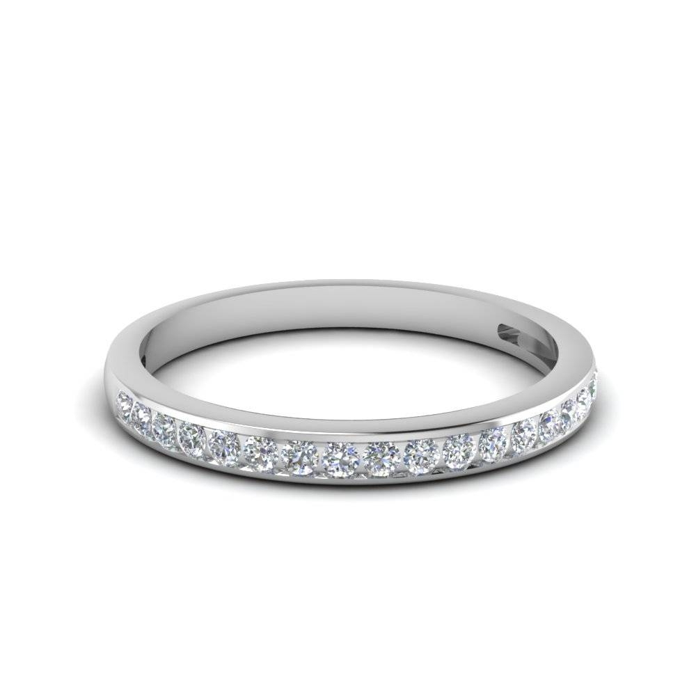 Channel Set Round Diamond Women Wedding Band In 950 Platinum For Most Recently Released Female Wedding Bands With Diamonds (Gallery 11 of 15)
