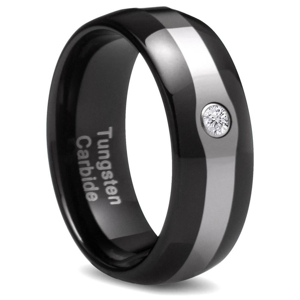 Choose A Mens Diamond Wedding Bands For Special Day | Wedding Ideas Regarding Mens Black Tungsten Wedding Bands With Diamonds (View 3 of 15)