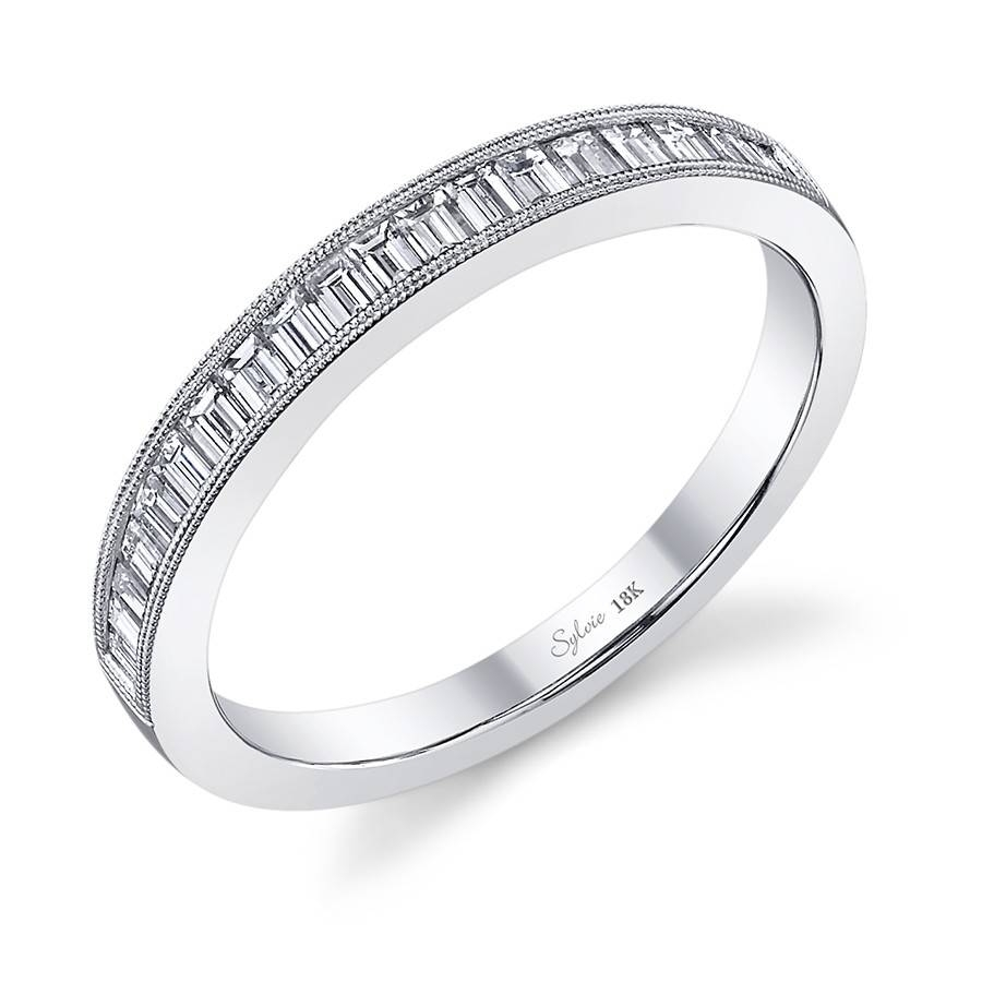 Classic Baguette Diamond Wedding Band With Regard To Baguette Wedding Bands (View 10 of 15)
