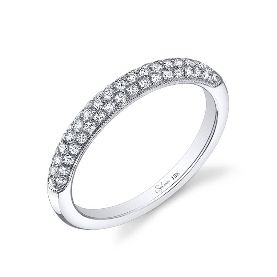 Classic Multiple Pave Diamond Wedding Band Within Most Recently Released Pave Diamond Wedding Bands (Gallery 14 of 15)