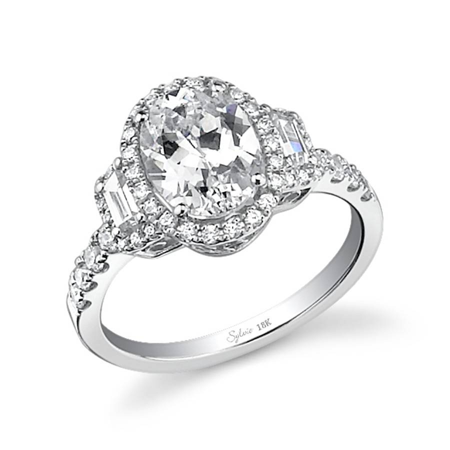 Classic Oval Three Stone Diamond Engagement Ring | Diamond Regarding 3 Stone Halo Engagement Ring Settings (View 5 of 15)