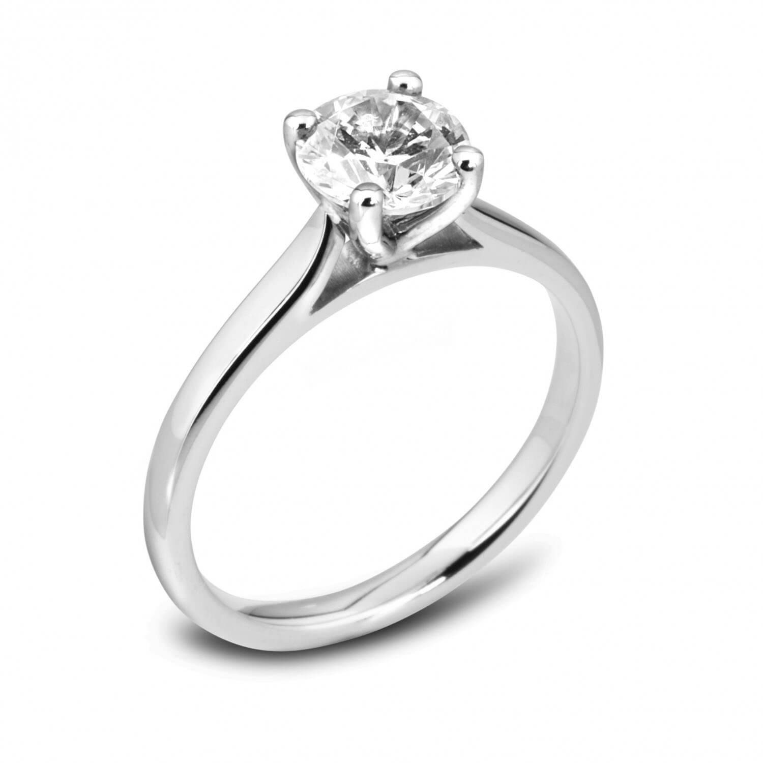 Classic Solitaire Diamond Engagement Ring For Solitare Diamond Engagement Rings (Gallery 12 of 15)