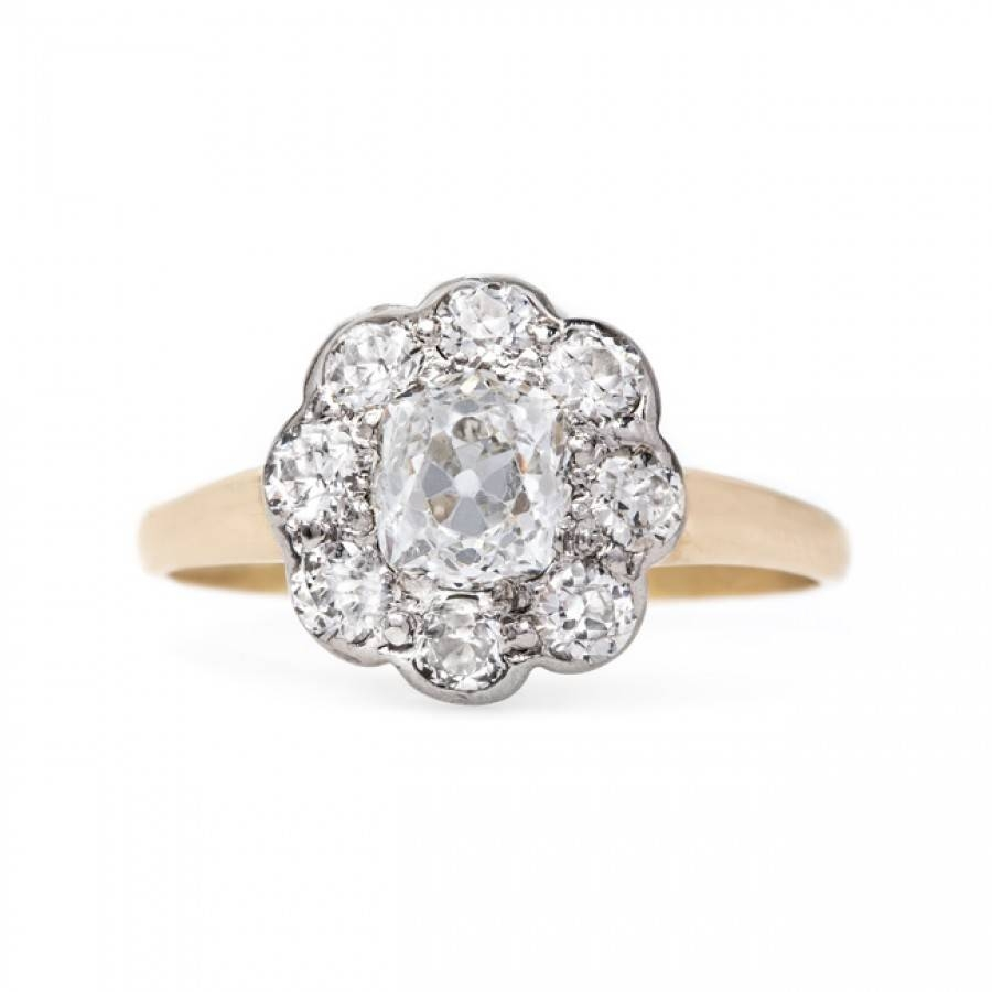 Classic Victorian Era Halo Engagement Ring | Seattle In Seattle Engagement Rings (View 3 of 15)