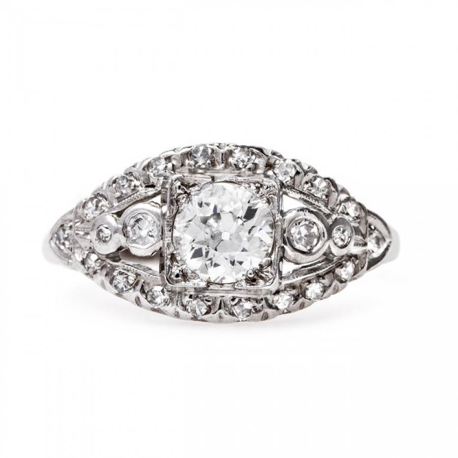 Classic Vintage Art Deco Engagement Ring | Phoenix Regarding Phoenix Vintage Engagement Rings (Gallery 8 of 15)