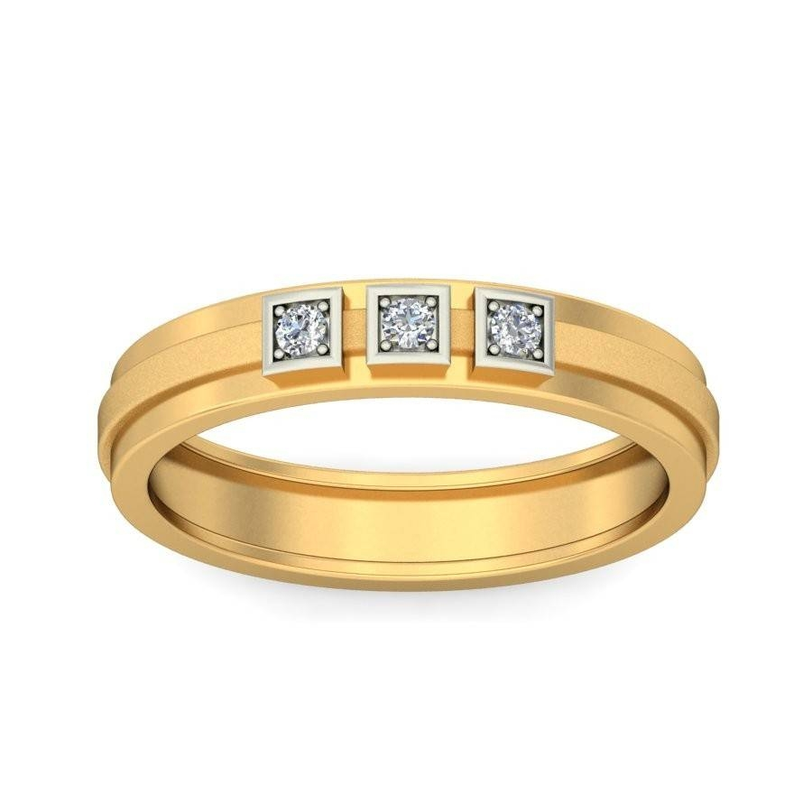 Closeout Three Stone Sale! Perfect Inexpensive Three Stone Throughout Gold Male Wedding Rings (View 14 of 15)