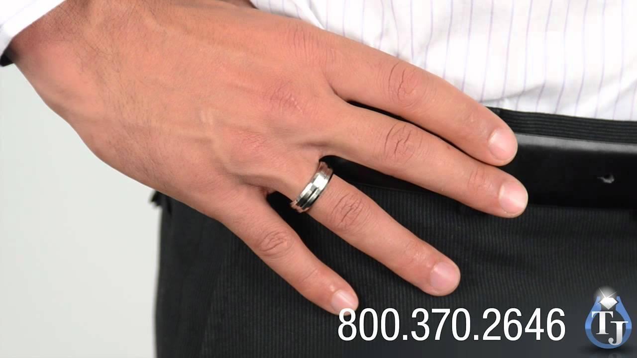 Cobalt Wedding Bandbenchmark, Kalmin Beveled Edge 7Mm – Youtube Pertaining To 7Mm Titanium Wedding Bands (Gallery 3 of 15)