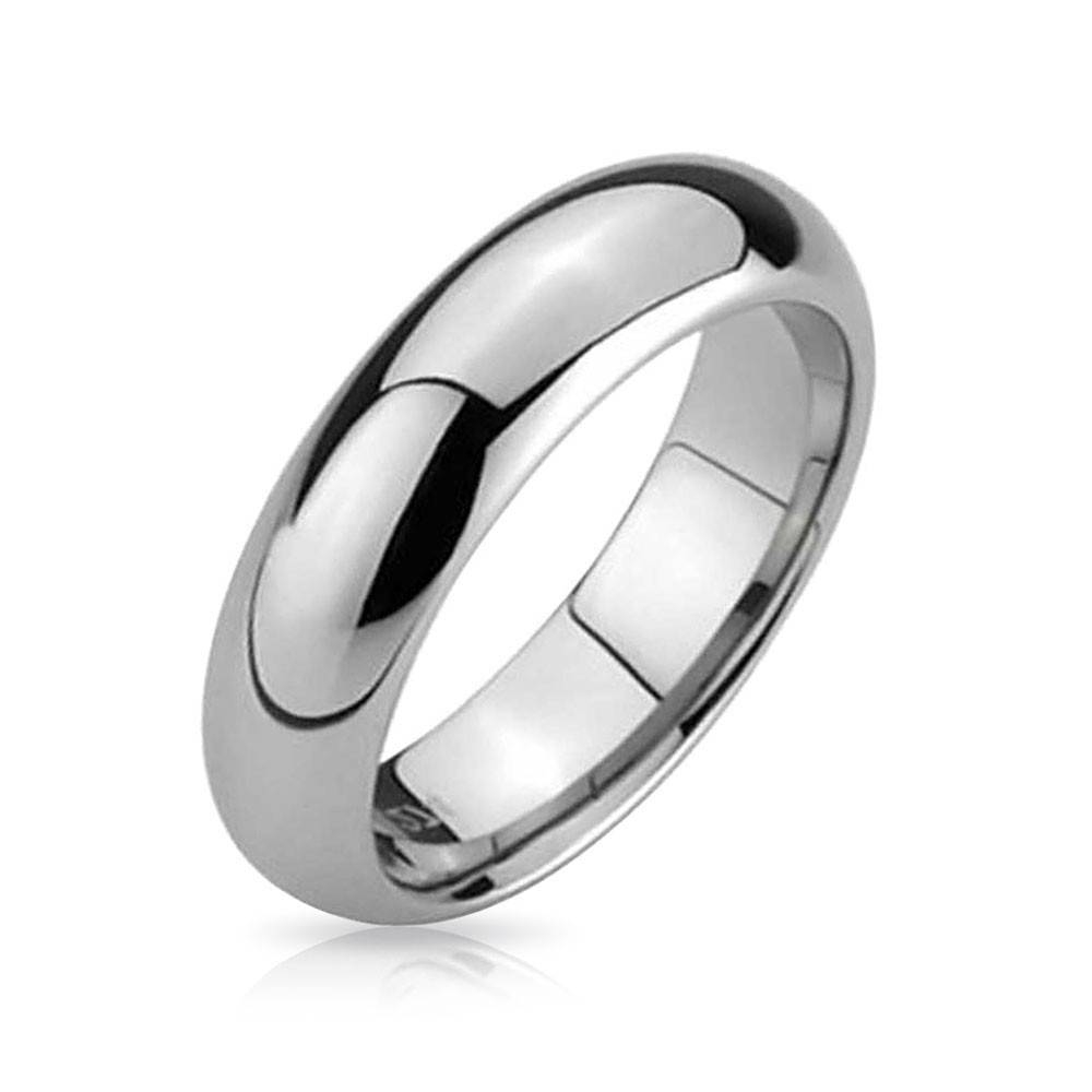 Comfort Fit Unisex Tungsten Wedding Band Ring 5Mm Inside Mens Wedding Bands Comfort Fit (Gallery 2 of 15)