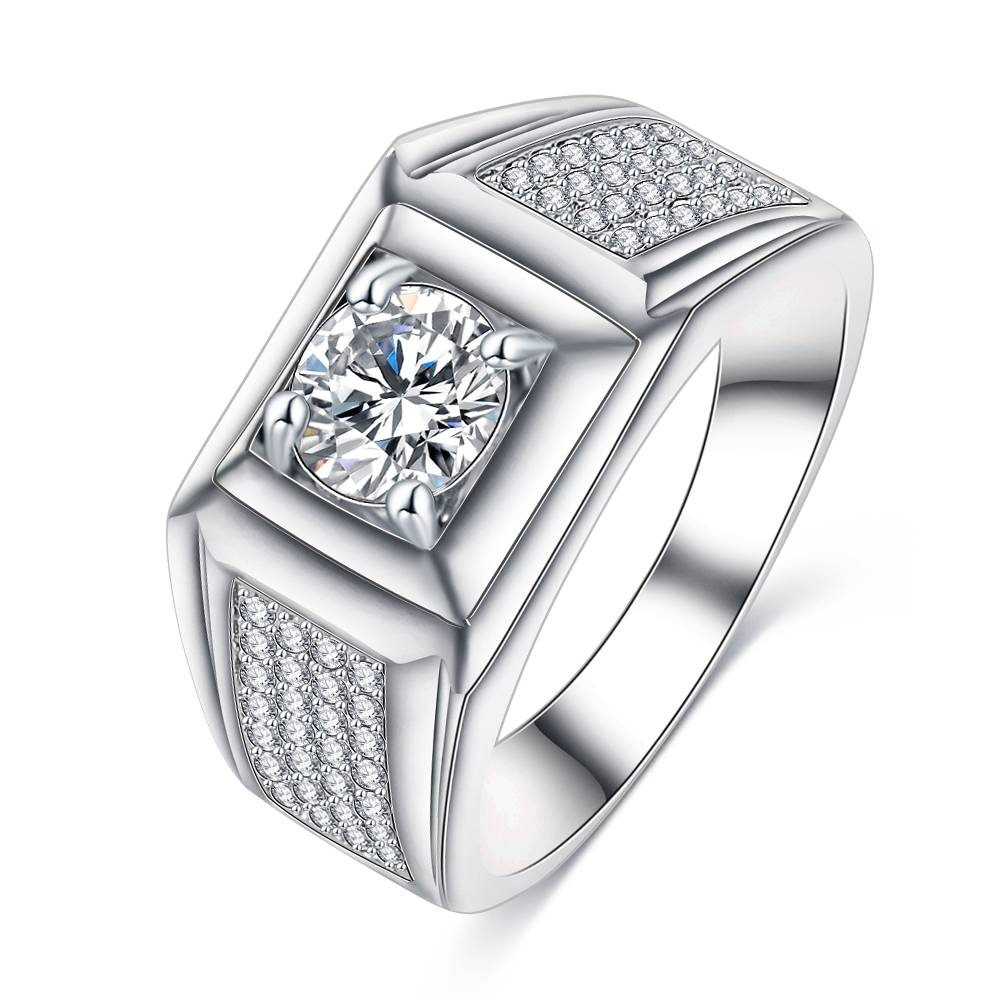 Compare Prices On Rhodium Wedding Band  Online Shopping/buy Low Regarding Latest Rhodium Wedding Bands (View 4 of 15)
