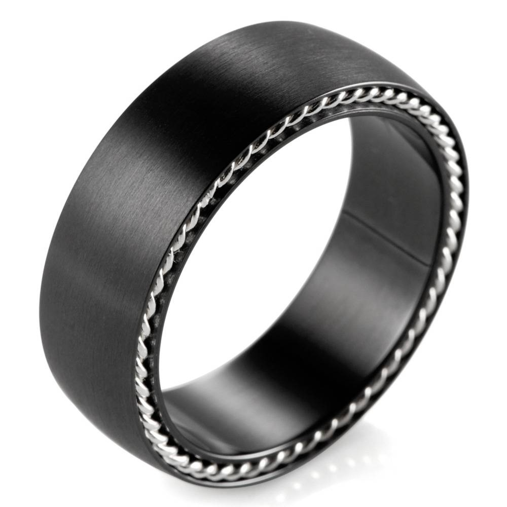 Compare Prices On Zirconium Wedding Band  Online Shopping/buy Low Within Black Zirconium Wedding Bands (View 6 of 15)