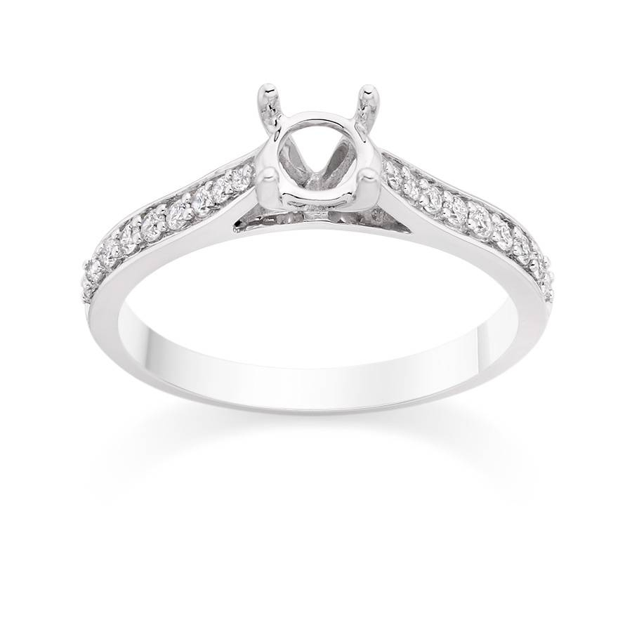 Contour Pave Set Side Stone Engagement Ring Setting – Vashi With Regard To Pave Engagement Ring Settings (Gallery 9 of 15)