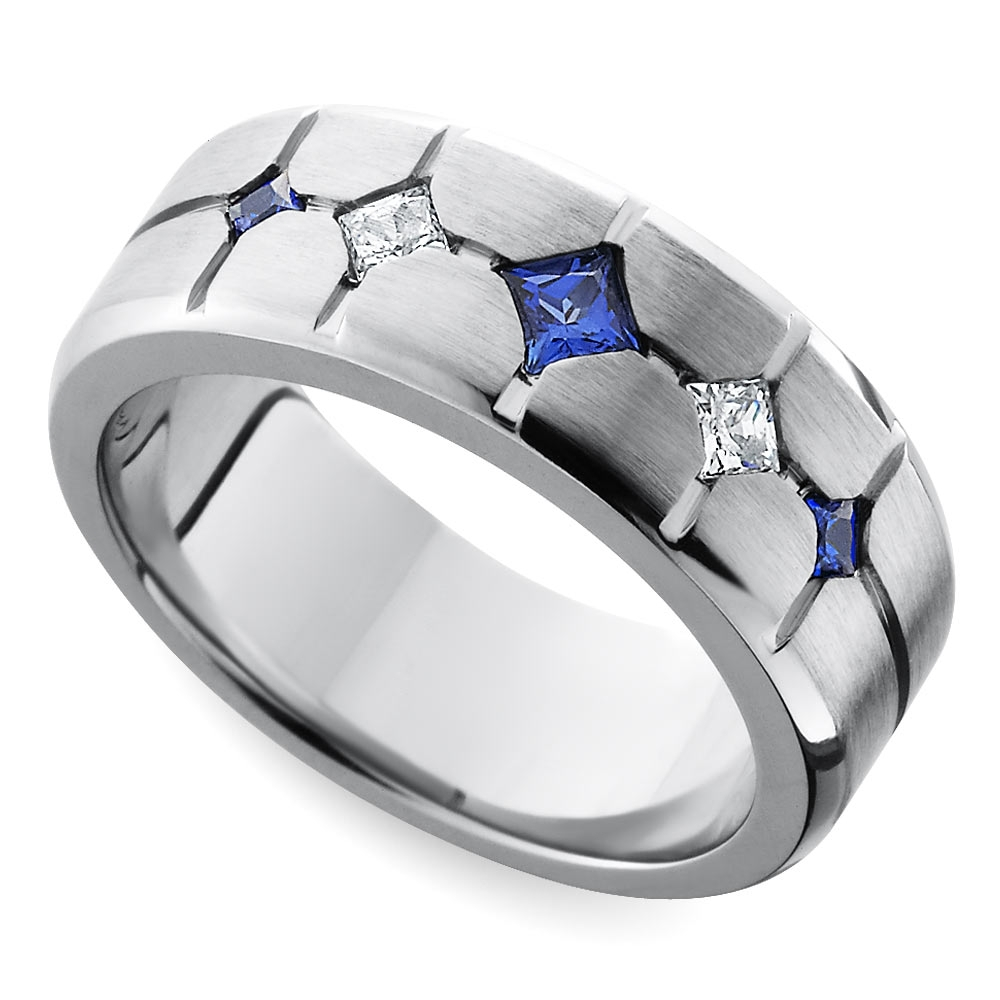 Cool Men's Wedding Rings For Sports Fanatics With Regard To Recent Trendy Mens Wedding Bands (View 4 of 15)