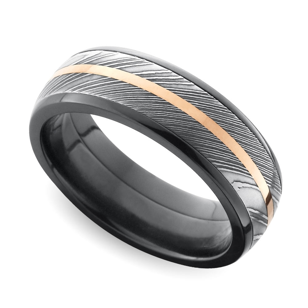 Cool Men's Wedding Rings That Defy Tradition Intended For Most Up To Date Trendy Mens Wedding Bands (View 7 of 15)