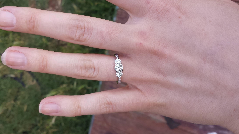 Costco E Ring!! – Weddingbee With Costco Wedding Bands (Gallery 297 of 339)
