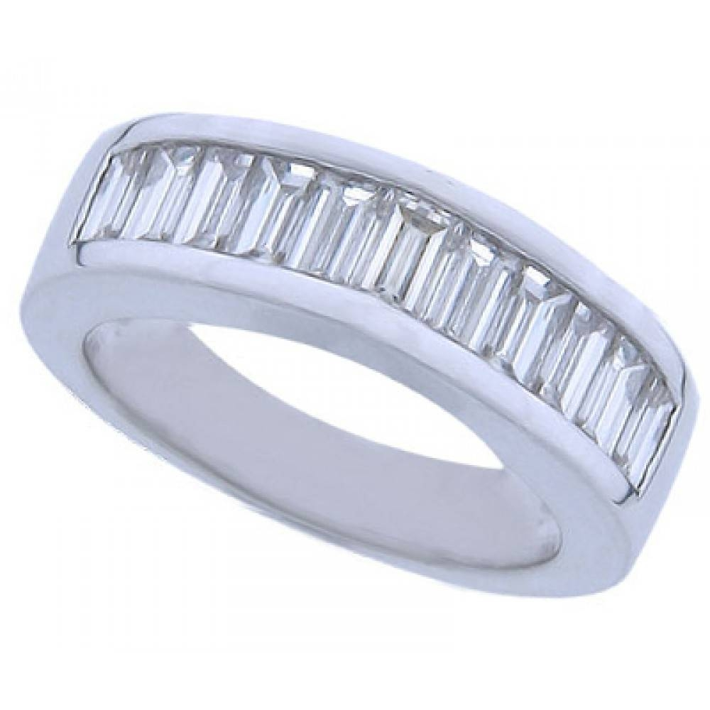 Ct Baguette Cut Diamond Wedding Band Ring Throughout Baguette Cut Diamond Wedding Bands (View 4 of 15)