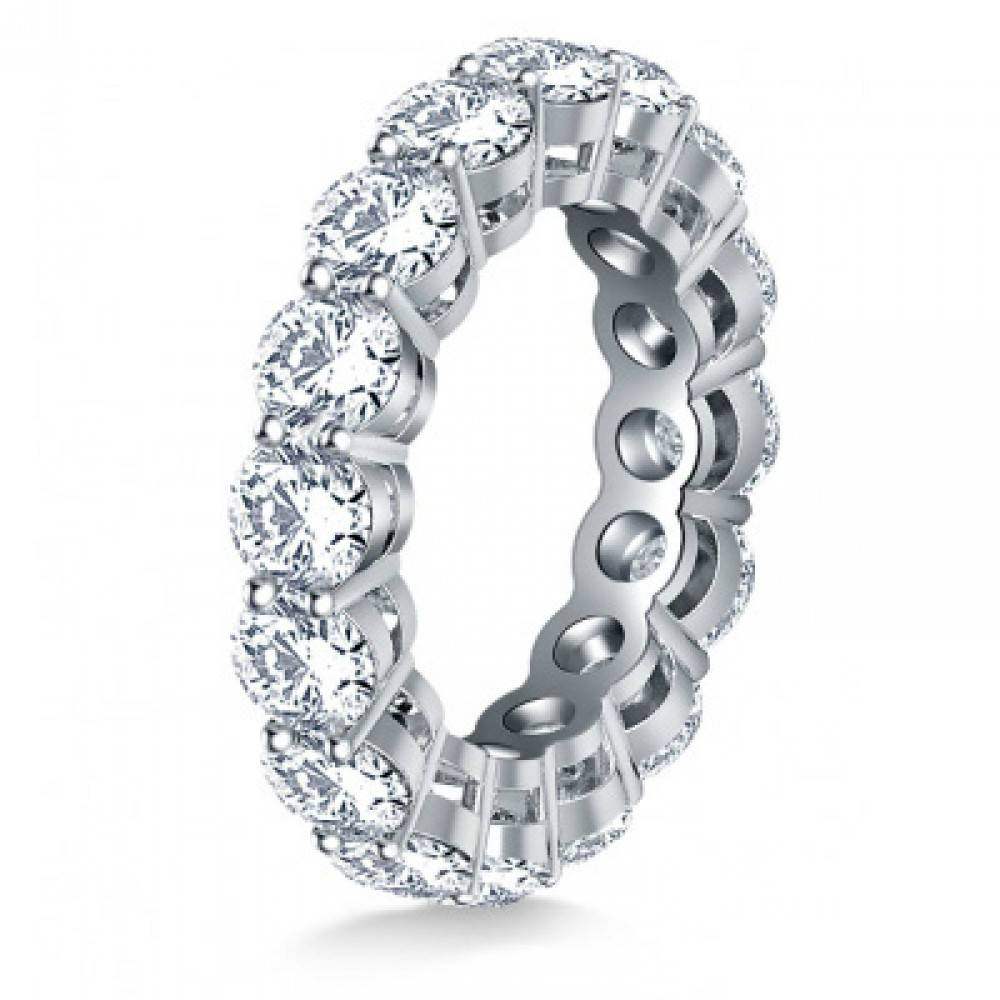 Ct Ladies Round Cut Diamond Eternity Wedding Band For Current Diamond Eternity Wedding Bands (Gallery 10 of 15)