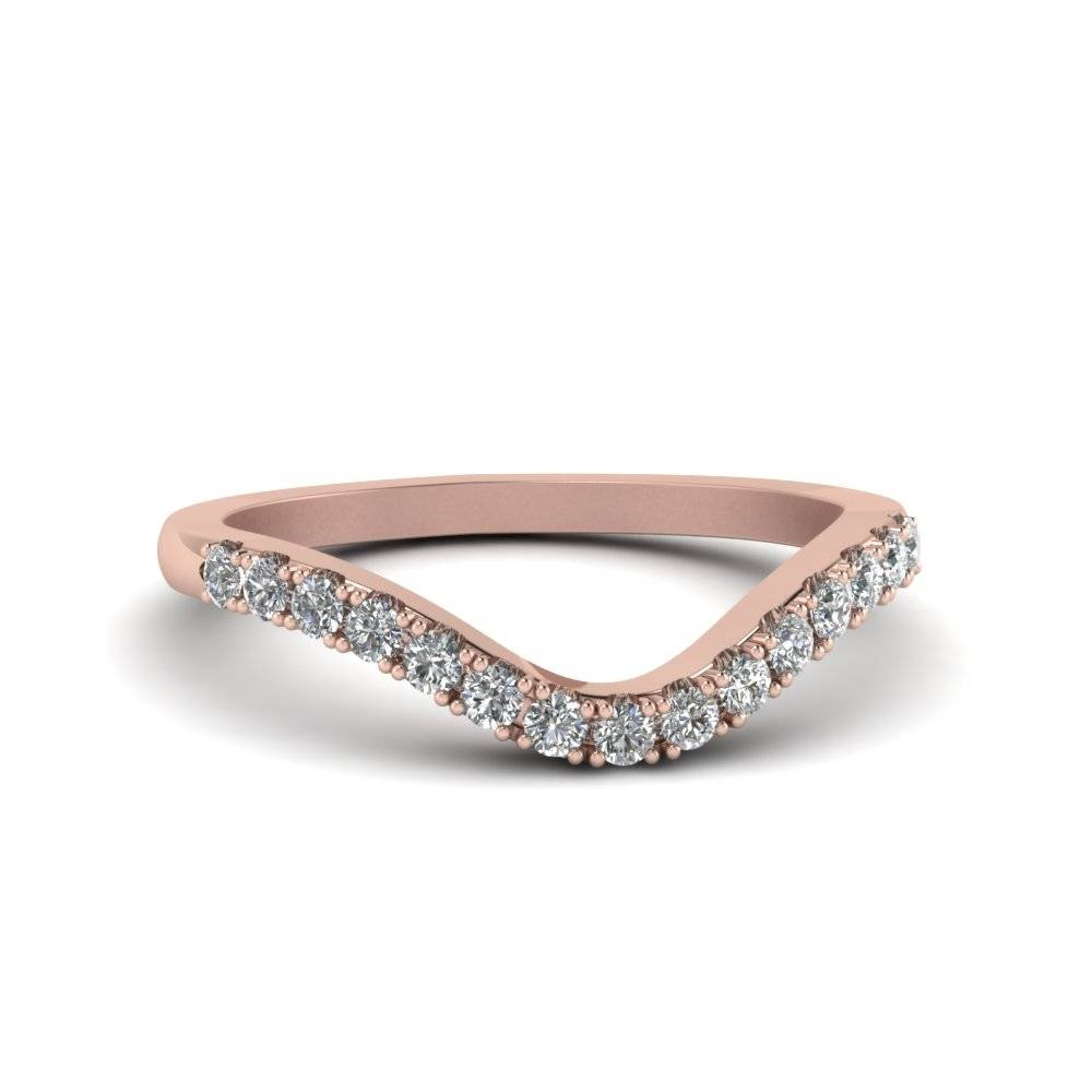 Curved Delicate Diamond Band In 14K Rose Gold | Fascinating Diamonds With Regard To Delicate Diamond Wedding Bands (Gallery 1 of 15)