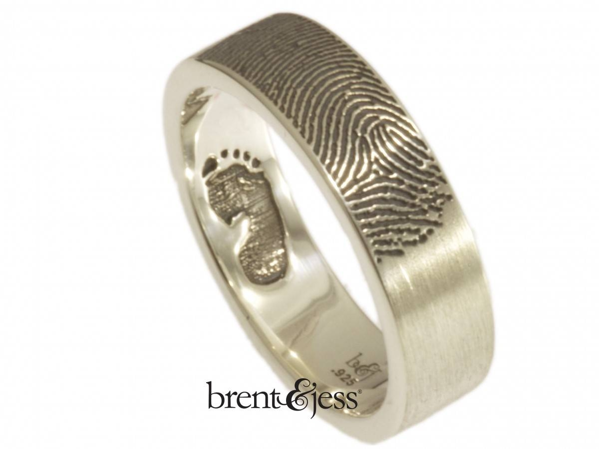 Custom Handmade Fingerprint Jewelrybrent&jess Regarding Finger Print Wedding Rings (View 15 of 15)