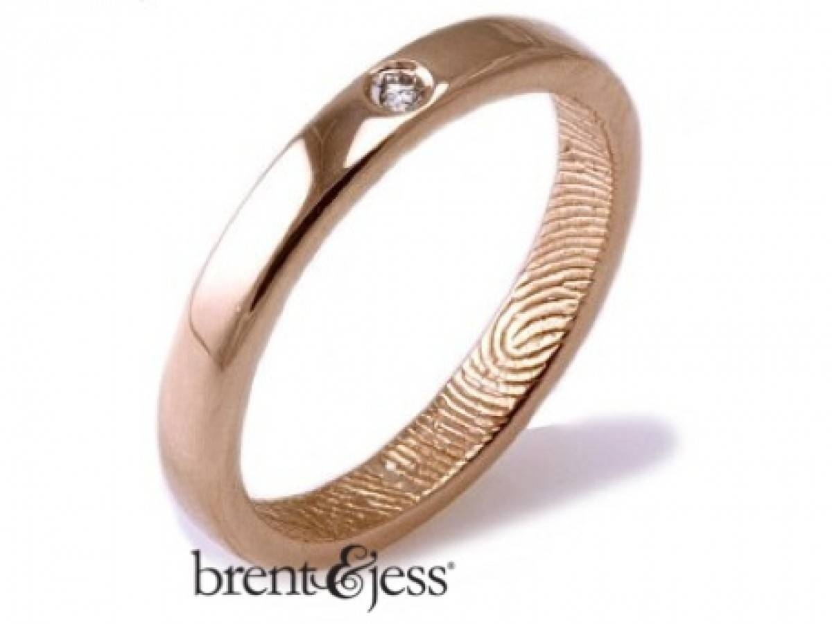 Custom Handmade Fingerprint Jewelrybrent&jess Within Finger Print Wedding Rings (View 14 of 15)