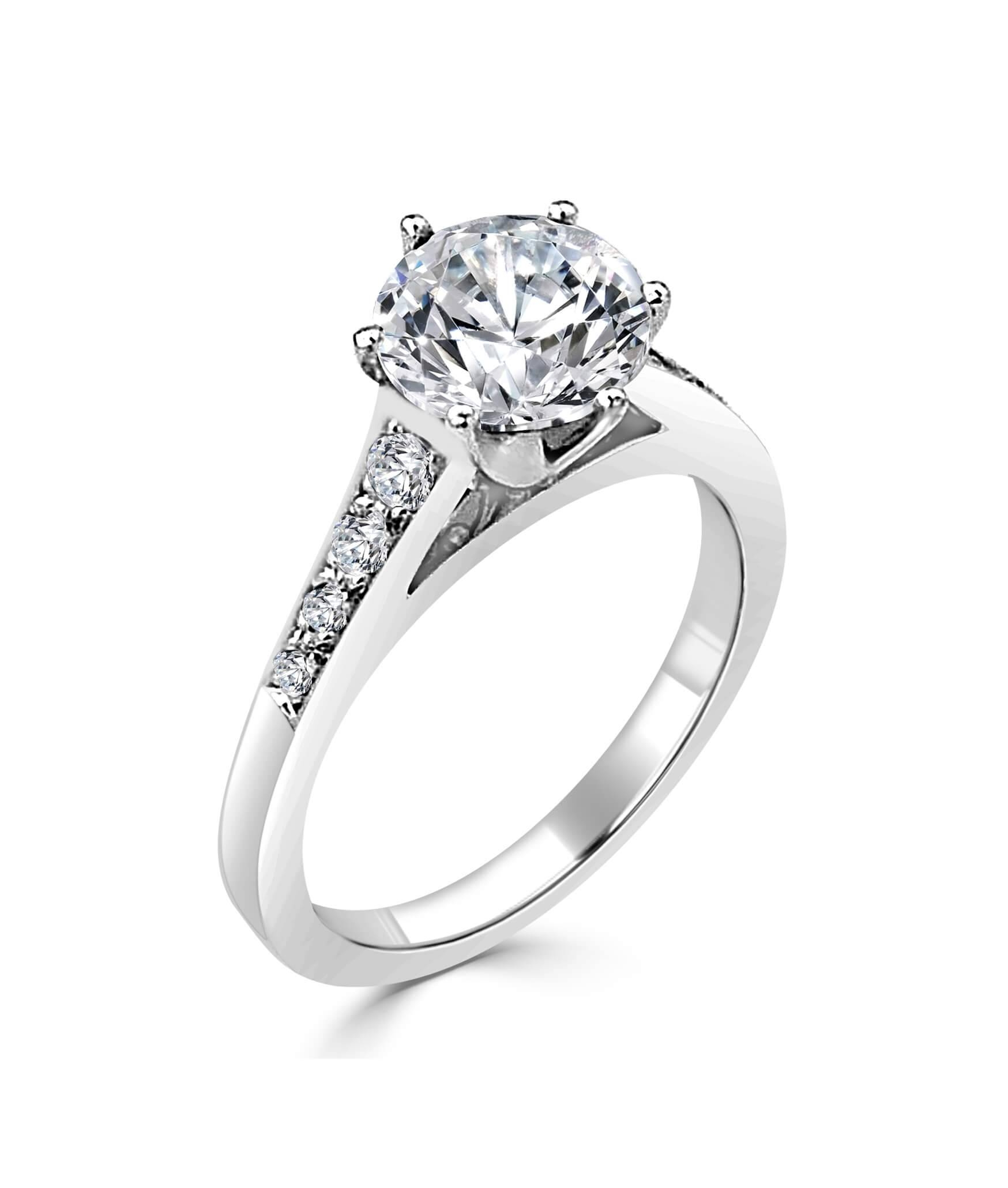 Custom Made Diamond Engagement & Wedding Rings Melbourne Cbd Throughout Custom Diamond Engagement Rings (View 7 of 15)