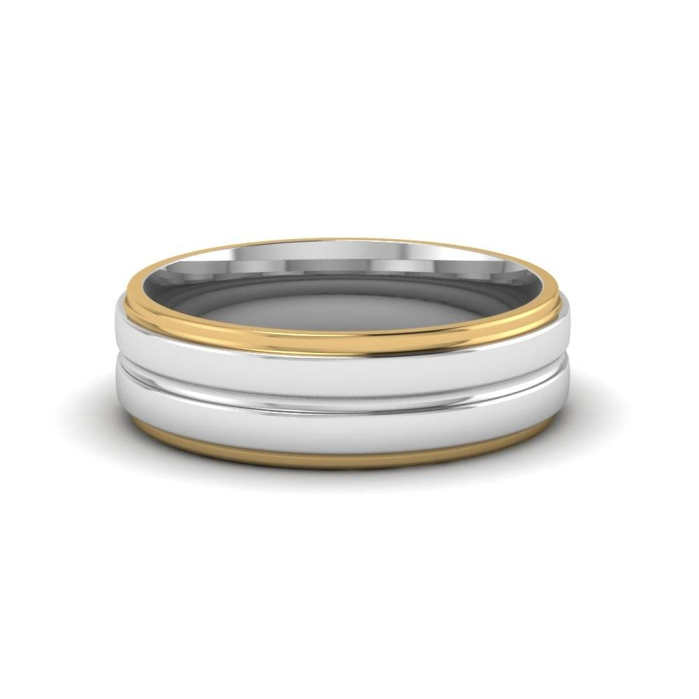 Photo Gallery of Mens 2 Tone Wedding Bands Viewing 3 of 15 Photos