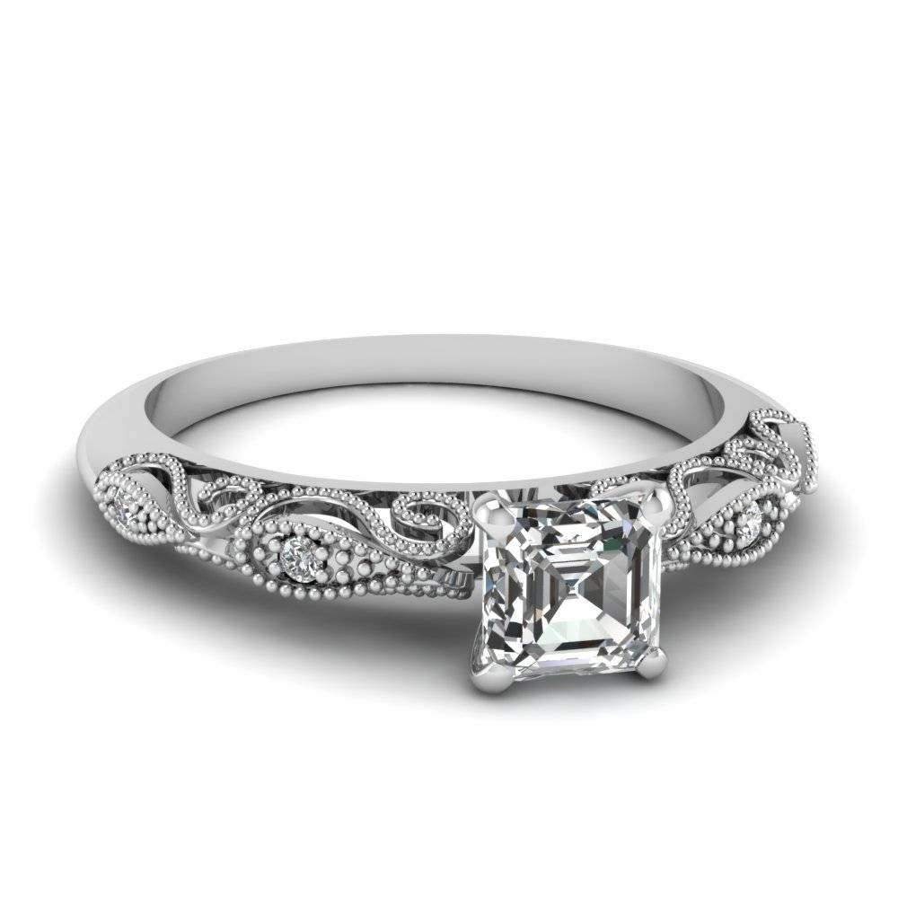 Customize Your Own Asscher Cut Engagement Rings | Fascinating Diamonds For Asscher Diamond Engagement Rings (View 11 of 15)