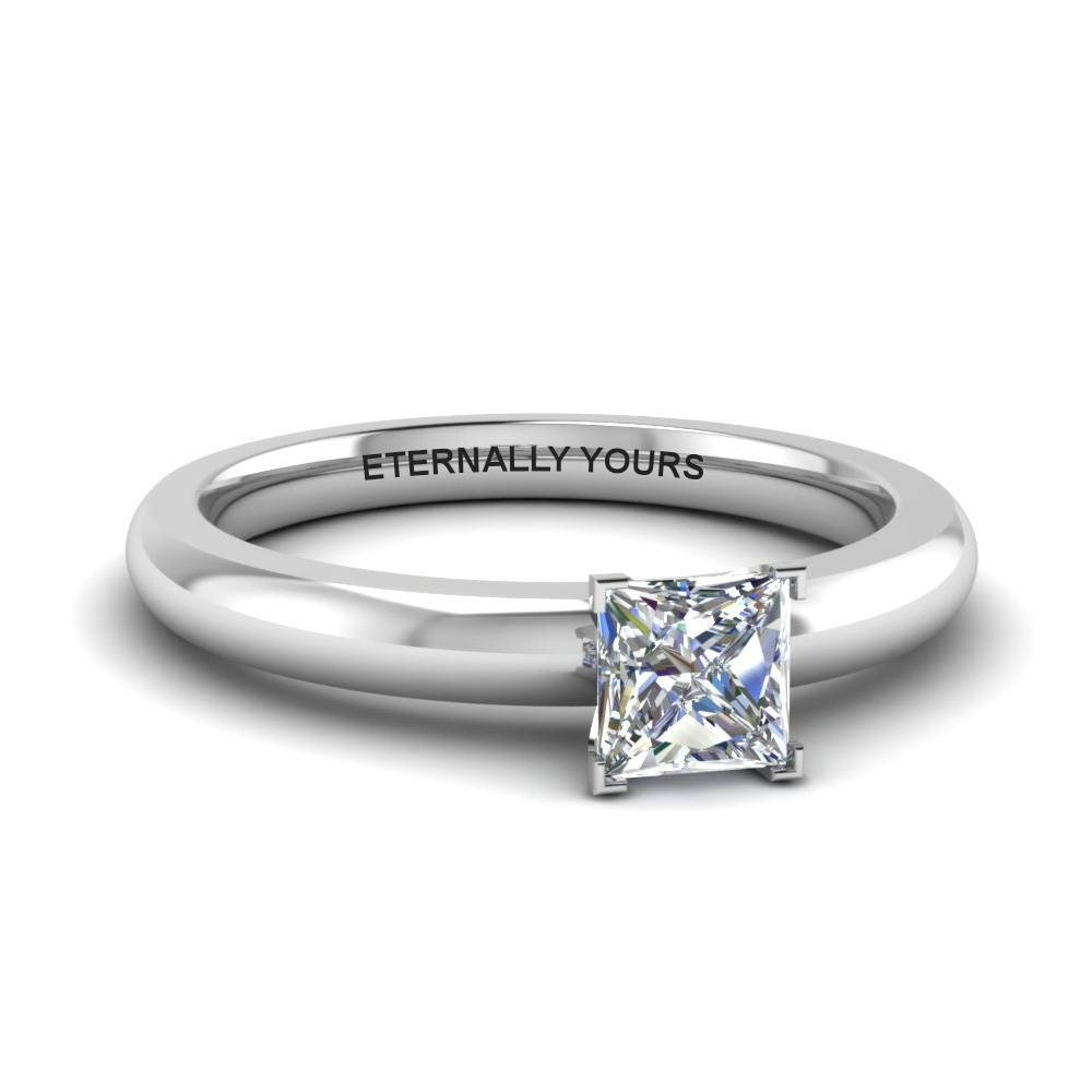 Customize Your Princess Cut Solitaire Engagement Rings With Simple Princess Cut Diamond Engagement Rings (Gallery 6 of 15)