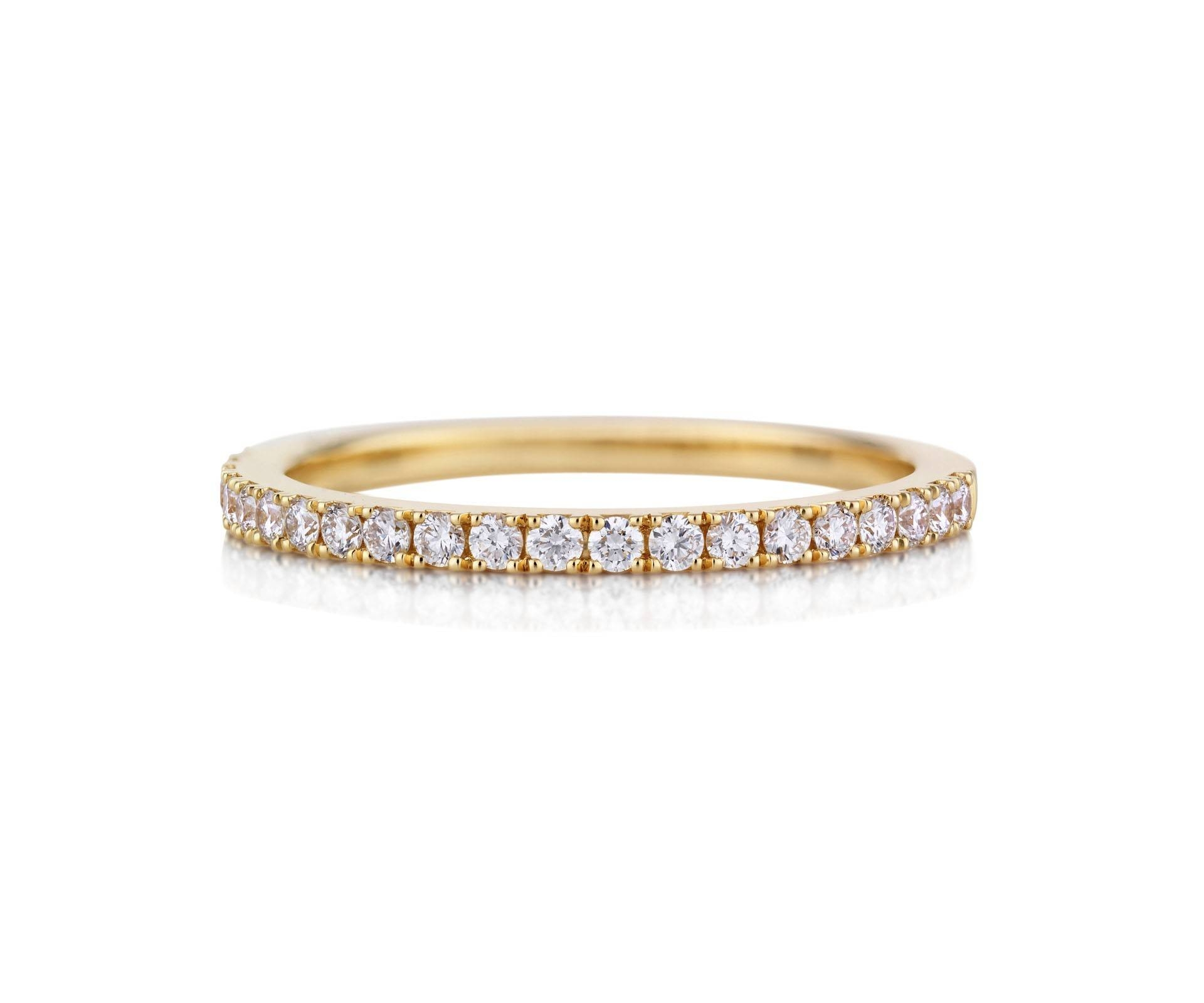 Db Classic Pave Eternity Ring Half Band J1Ex05Z00Y | De Beers Within Wedding Bands With Yellow Diamonds (Gallery 2 of 15)