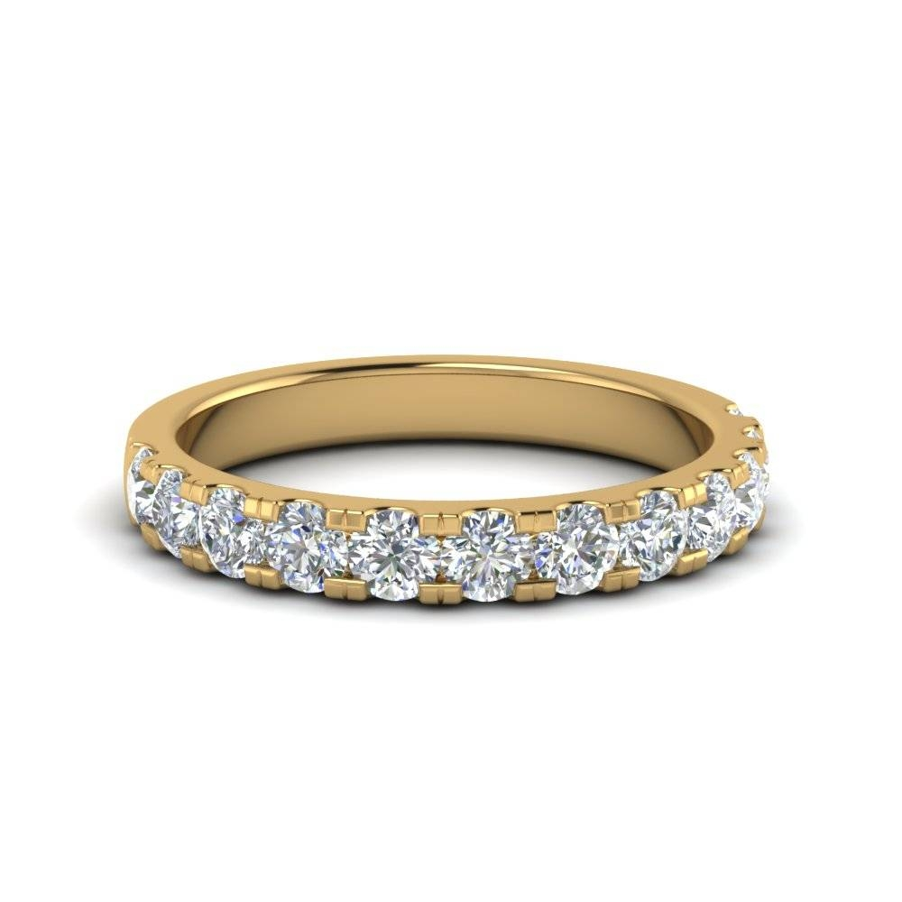 Delicate Diamond Wedding Ring One Carat In 18K Yellow Gold With Regard To Delicate Diamond Wedding Bands (Gallery 2 of 15)