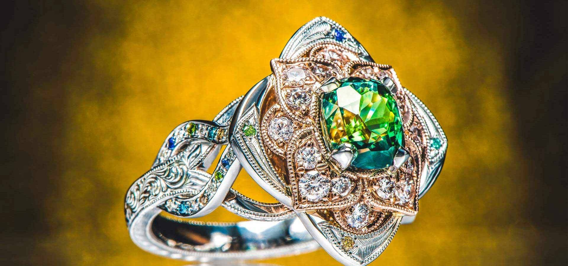 Design Your Own Engagement Ring & Custom Jewelry | Green Lake Jewelry Within Seattle Custom Engagement Rings (View 9 of 15)