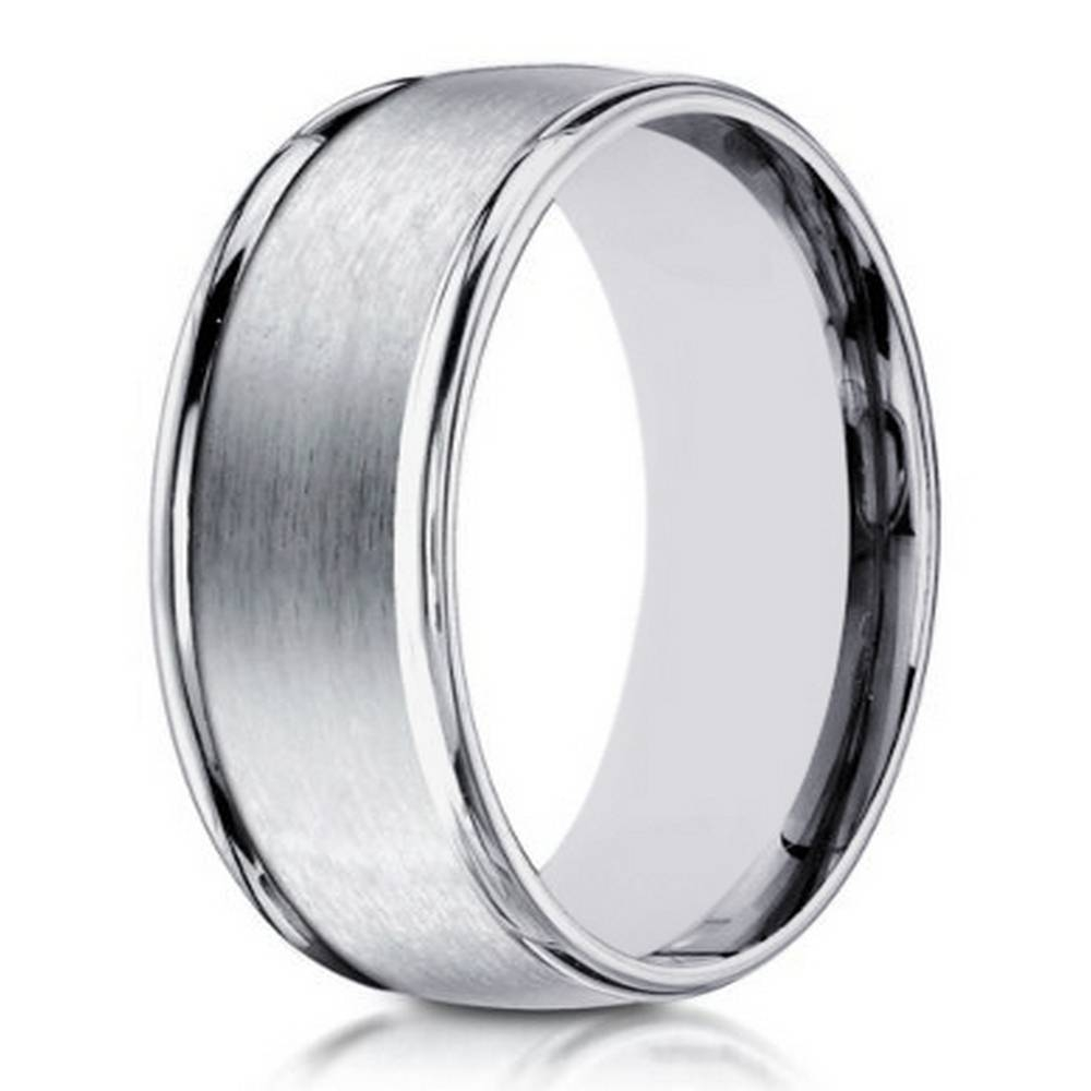 Designer Men's White Gold Ring | 8Mm Width Pertaining To 8Mm White Gold Wedding Bands (View 7 of 15)
