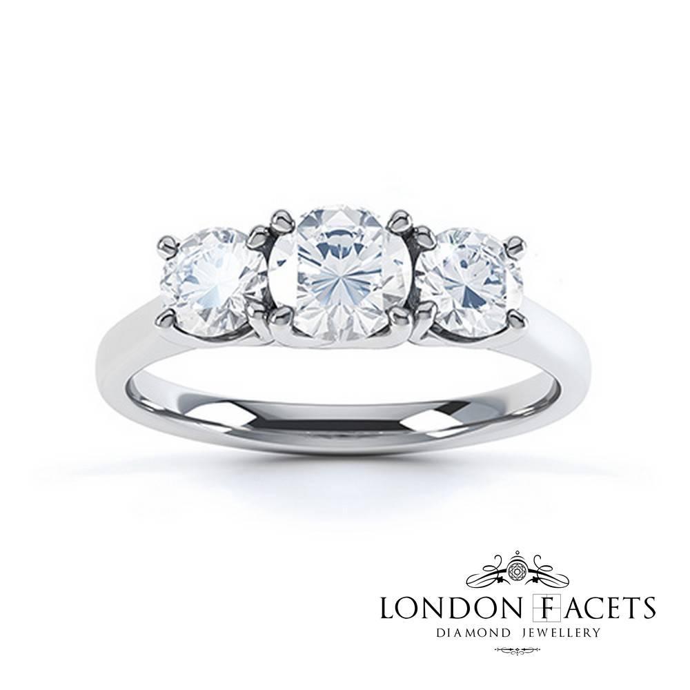 Diamanda 18Ct White Gold Diamond Engagement Ring | Diamond And Within London Gold Engagement Rings (View 3 of 15)