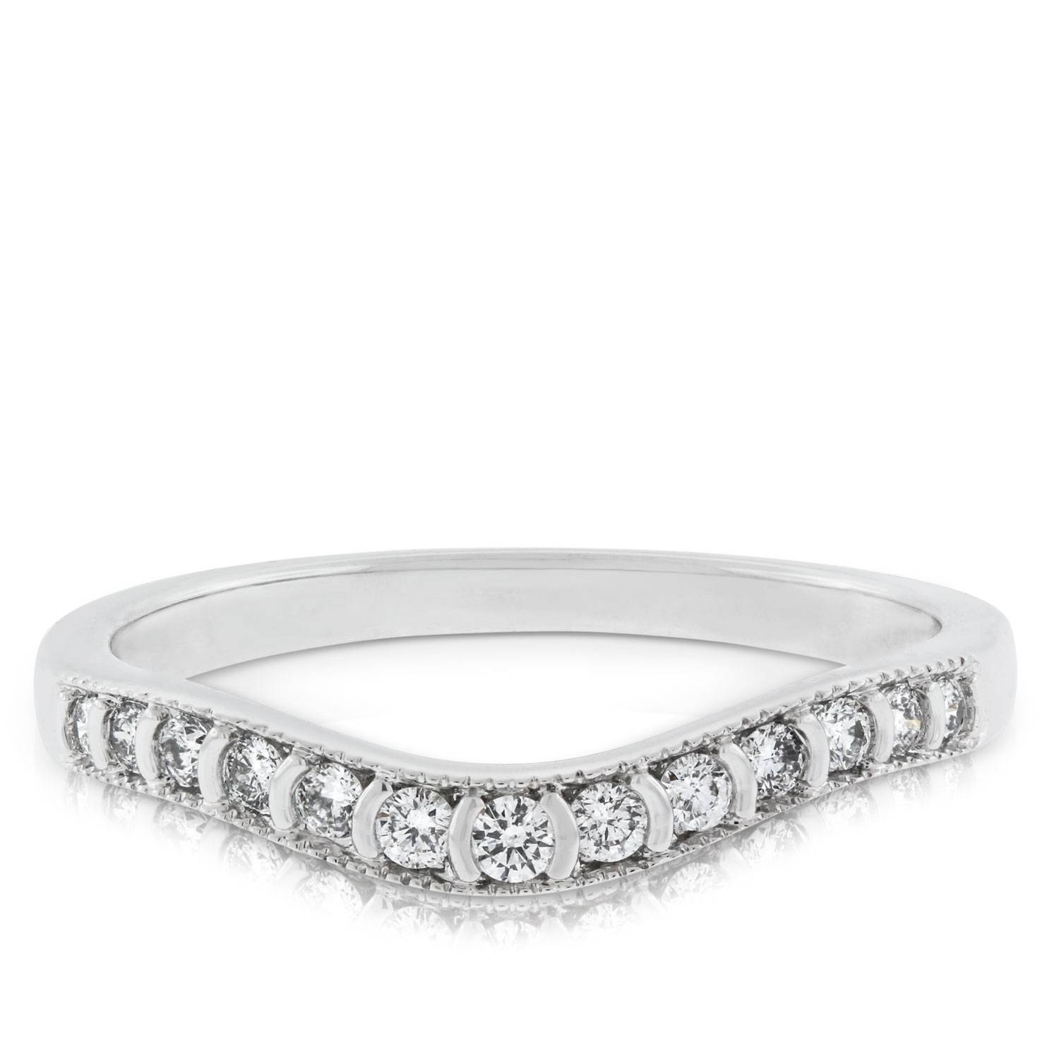 Diamond Contour Wedding Band 14k | Ben Bridge Jeweler Pertaining To Contour Wedding Bands (View 5 of 15)