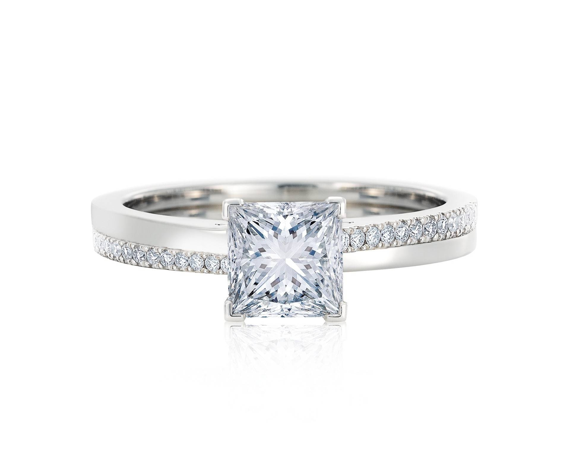 Diamond Engagement Rings & Promise Rings | De Beers Within Emerald Cut Engagement Rings Under  (View 8 of 15)