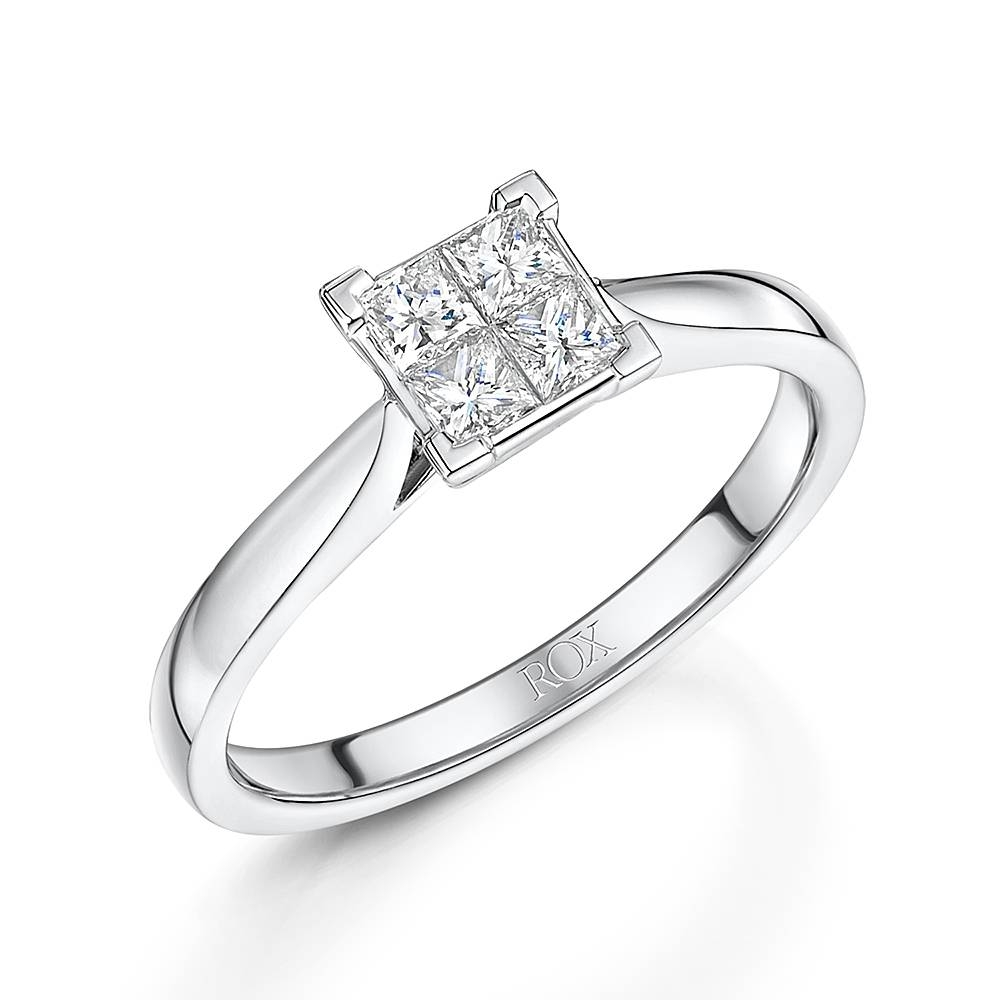 Diamond Engagement Rings | Rox Pertaining To Princess Shaped Engagement Rings (View 4 of 15)
