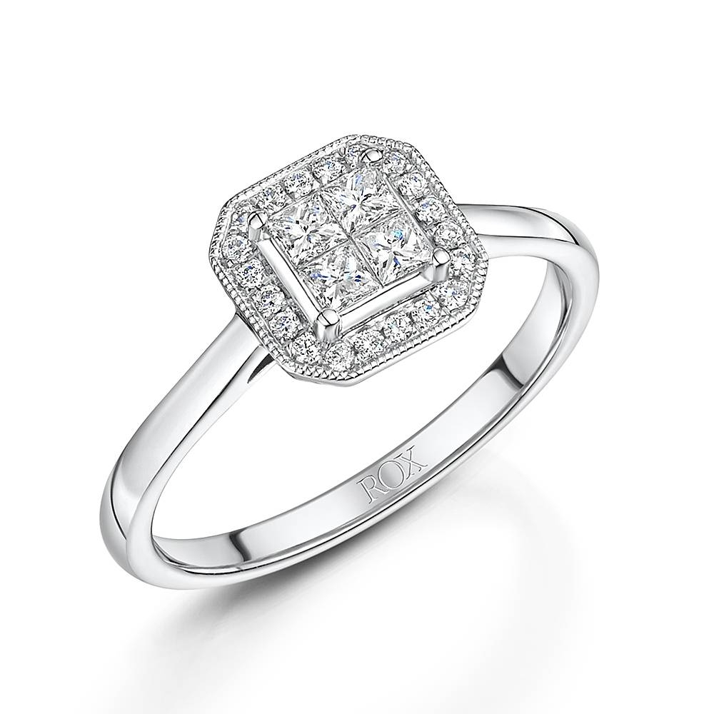 Diamond Engagement Rings | Rox Within Princess Shaped Engagement Rings (View 9 of 15)