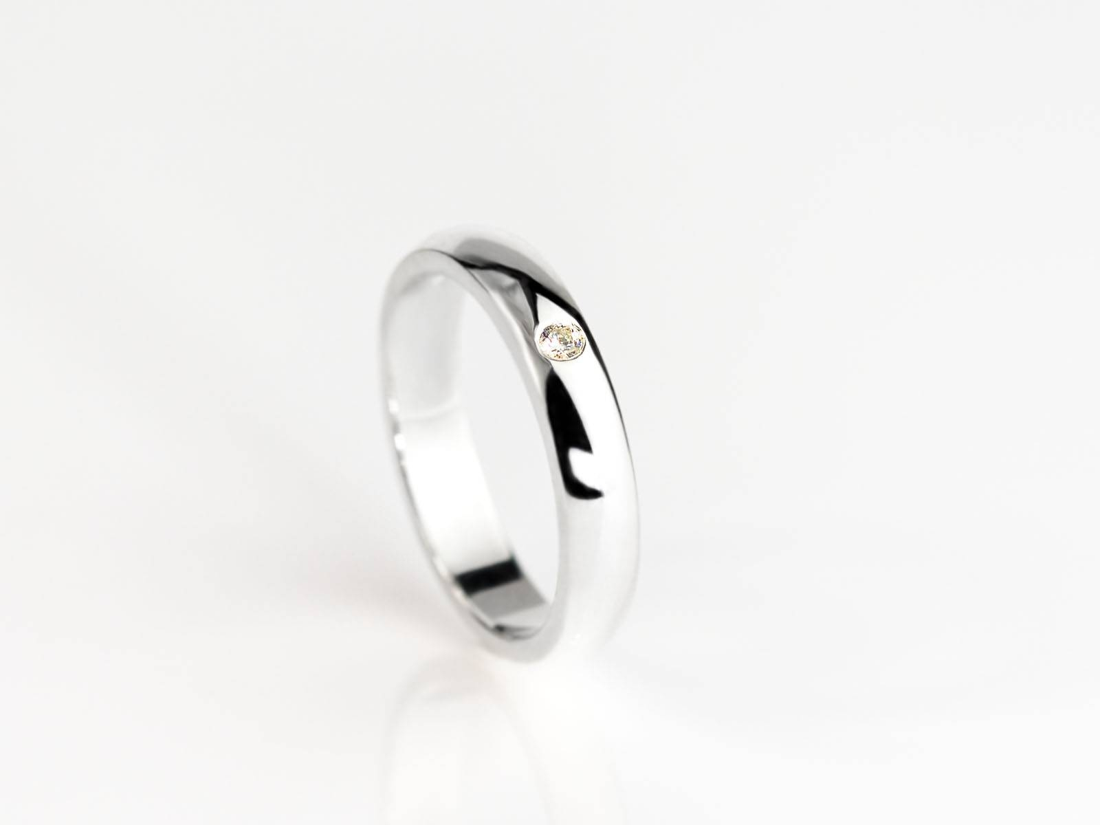 Diamond In The Ring | Elegant Sterling Silver Ring With Embedded Inside Embedded Diamond Engagement Rings (View 6 of 15)