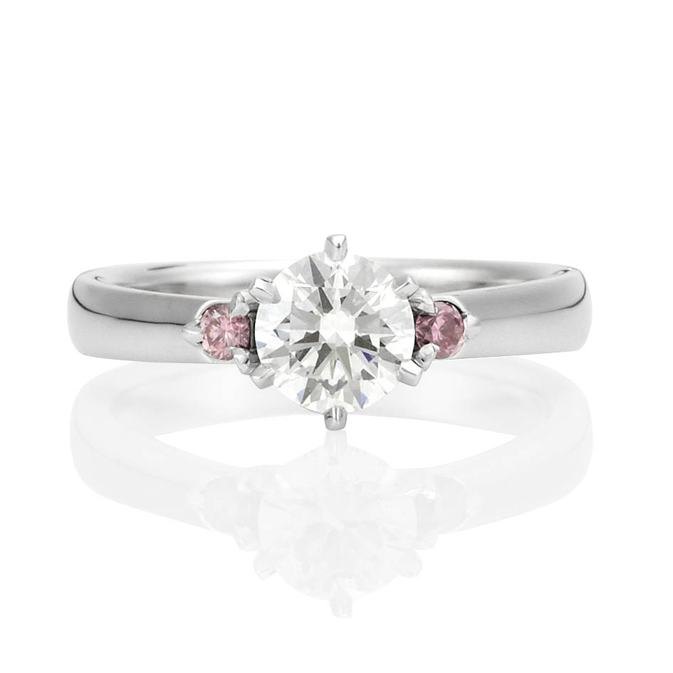Diamond Jewellery – Cherish Regarding Pink Diamond White Gold Engagement Rings (View 9 of 15)