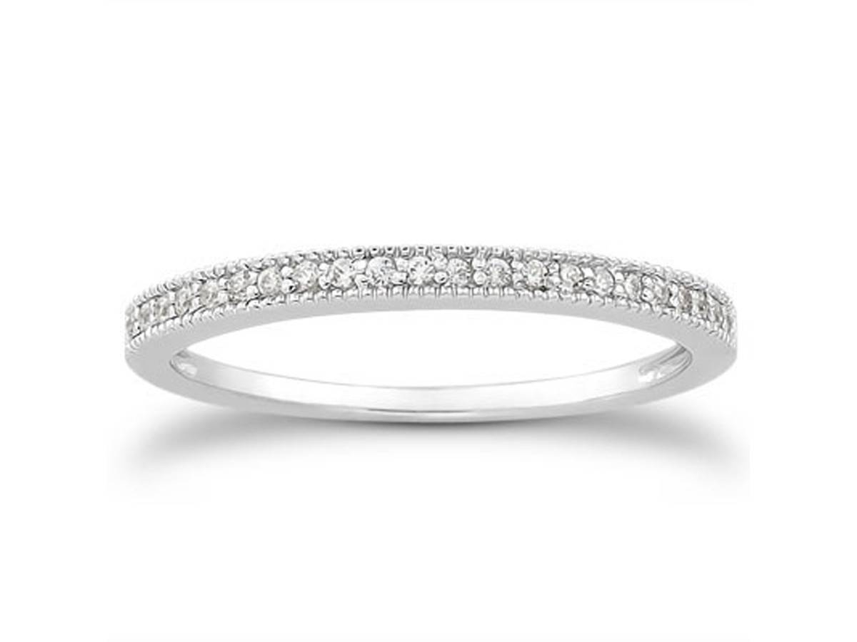 Diamond Micro  Pave Diamond Milgrain Wedding Ring Band In 14K Within Micro Pave Wedding Bands (View 3 of 15)