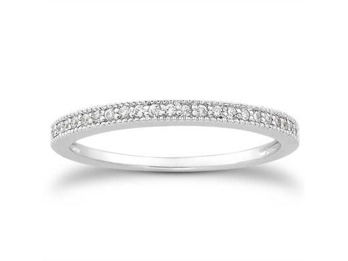 Diamond Micro Pave Diamond Milgrain Wedding Ring Band In 14k Within Micro Pave Wedding Bands (View 13 of 15)