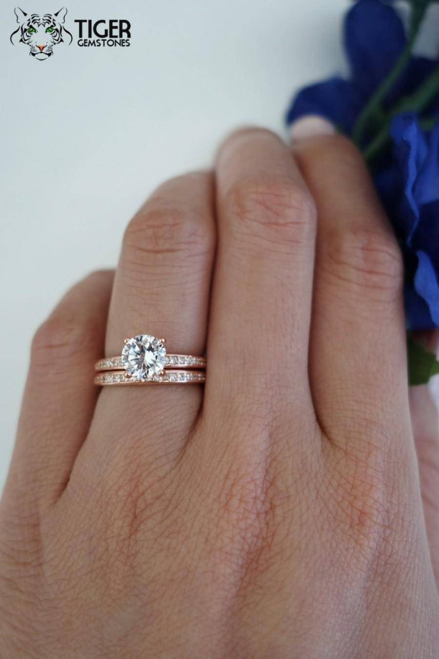 Diamond Rings 6 Weddbook Silver Engagement Ring With Rose Gold Within Gold Wedding Bands With Silver Engagement Rings (Gallery 6 of 15)