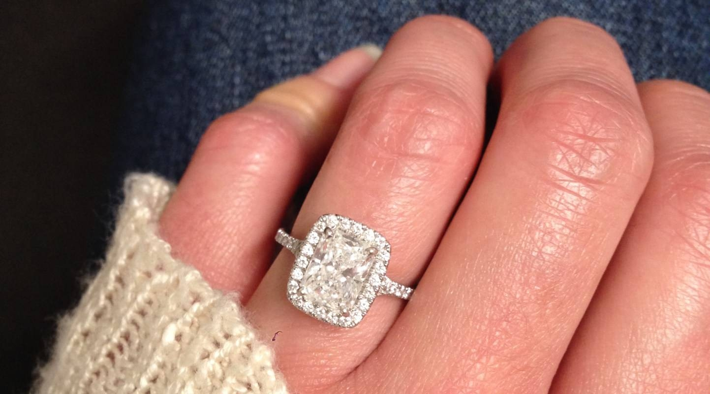 Diamonds : Famous Radiant Cut Engagement Rings Awesome Radiant Cut With Regard To Rectangular Radiant Cut Diamond Engagement Rings (Gallery 11 of 15)