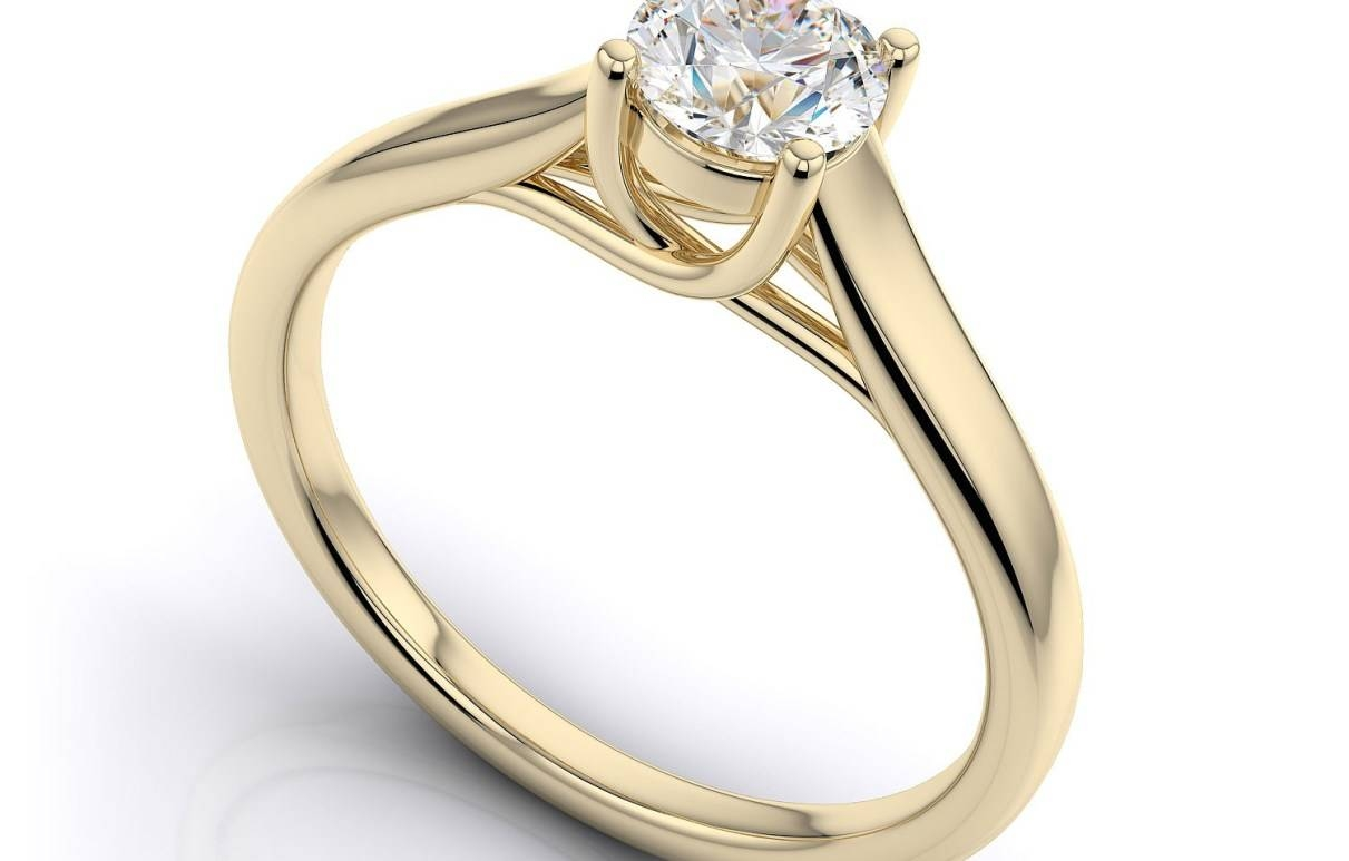 Diamonds : Striking Yellow Gold Engagement Rings Antique Winsome Pertaining To San Francisco Diamond Engagement Rings (View 11 of 15)
