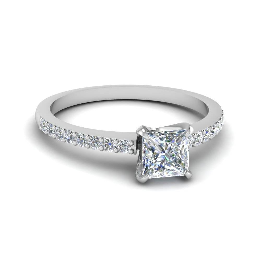 Discounted Engagement Rings | Fascinating Diamonds Inside Simple Princess Cut Diamond Engagement Rings (View 11 of 15)